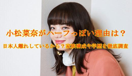 小松菜奈がハーフっぽい理由は?日本人離れしているから?家族構成や学歴を徹底調査