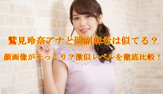 鷲見玲奈アナと岡副麻希は似てる?顔画像がそっくり?激似レベルを徹底比較!